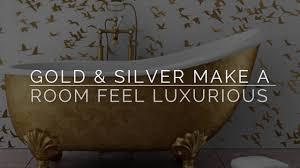 use metallic wallpaper in home youtube