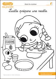 coloriage recette de cuisine les images de ma journée à colorier une activité pour les enfants