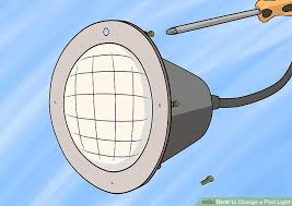 how to change a pool light replace pool light fixture without draining lighting designs