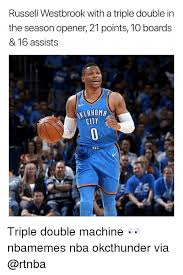 Russell Meme - russell westbrook with a triple double in the season opener 21