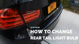 bmw x5 tail light removal bmw f30 how to change rear tail light bulbs youtube
