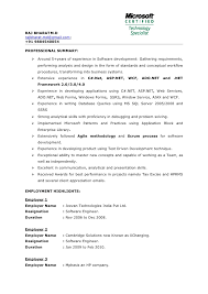 dot net resume sample exol gbabogados co
