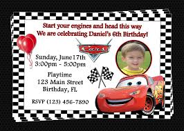 free printable birthday invitations cars disney birthday