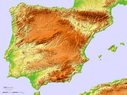 Topographical Map Of United States by A Detailed Topographic Map Of The Iberian Peninsula By Sci Lands