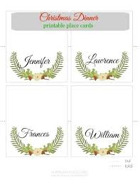 christmas place cards template free download best idea christmas