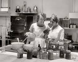 1930 S Kitchen by Two Women Canning Food At The Odessa Dow Laboratory 1923