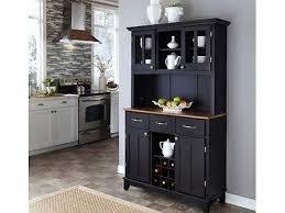 black kitchen hutch china cabinet buffet wood storage black