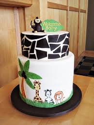 safari animal themed cake for keshias baby shower the mother to be