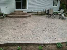 Patios Design Sted Concrete Ideas Sted Concrete Patio Designs Calico