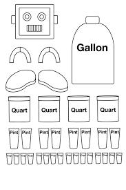 Gallon Worksheet Other Graphical Works Classroom Math Homeschool
