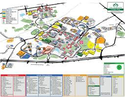 Map Of North Carolina Cities Printable Campus Maps Facilities Management Unc Charlotte