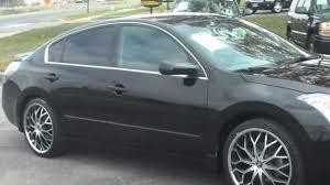 nissan altima black rims 2007 nissan altima 2 5s jet black 63 000 miles nice wheels