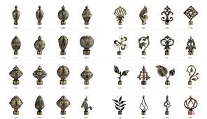 decorative metal iron curtain rod end caps for curtain accessories