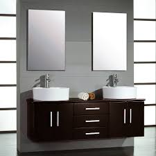 59 Bathroom Vanity Single Sink by 59 Inch Espresso Wall Mount Double Vessel Sink Vanity Set