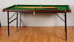 A Sam S Atlas Quarter Size Snooker Table With Cues Balls And Pool