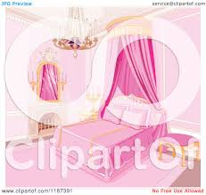 Curtain Cartoon by Cartoon Of A Pink Princess Bedroom With A Fireplace Chandelier And