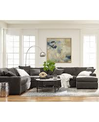 Sofa Furniture Radley 5 Piece Fabric Chaise Sectional Sofa Created For Macy U0027s