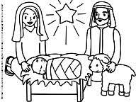baby jesus coloring page jesus mary and joseph under the christmas star coloring page