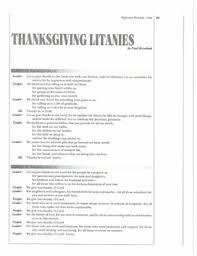 thanksgiving litanies reformed worship