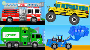 monster truck videos kids youtube learning colors collection vol 1 learn colours monster trucks
