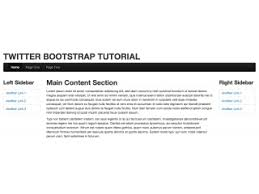 right sidebar bootstrap snippet page with left and right sidebar using html