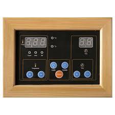 sauna glass doors amazon com 2 person hemlock deluxe infrared sauna w 6 carbon