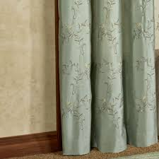 Khaki Curtains Hawthorne Embroidered Window Treatment