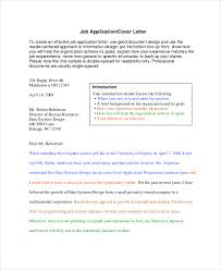 cover letter format 11 free word pdf documents download free