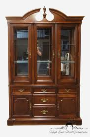 display china cabinets furniture high end used furniture bassett eden house 56 lighted display
