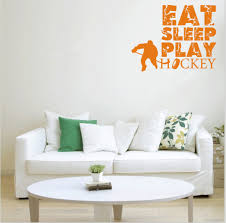 eat sleep play hockey vinyl quotes wall decal home decor kids room eat sleep play hockey vinyl quotes wall decal home decor kids room boys rooms art mural wallpaper removable wall stickers in wall stickers from home