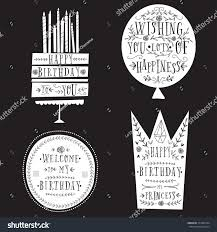 many stock birthday party invitation card vector creation set chalk birthday party invitation card stock vector 377485534
