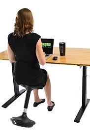 uncaged ergonomics wobble stool 2 leather seat adjustable height