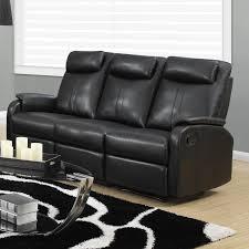 Leather Sofas Norton Black Faux Leather Modern Living Room Sofa Walmart Com
