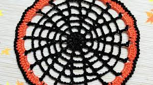 how to make a crocheted halloween cobweb doily diy crafts