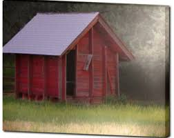Red Shed Home Decor Red Barn Canvas Etsy