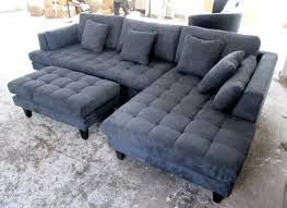 Gray Microfiber Sectional Sofa by Chaise Lounge Chaise Lounge Sectional Sofa Double Chaise Lounge
