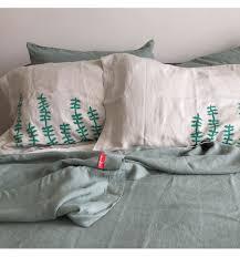 rustic irish linen blanket flat sheet bedspread throw queen