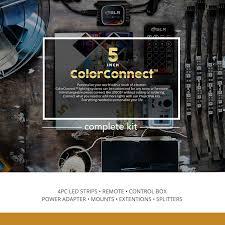 amazon com 4pc multi color rgb led strip kit 5 inch pre cut