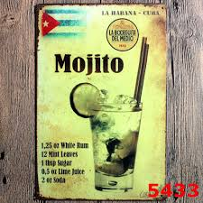 Wall Decor Signs For Home by Popular Vintage Metal Sign Mojito Buy Cheap Vintage Metal Sign