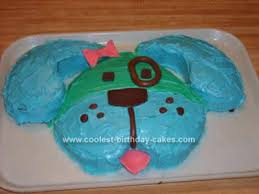 coolest blue dog birthday cake design birthday cake design dog