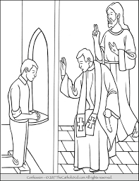sacrament of confession coloring page thecatholickid com
