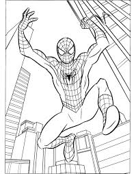 drawn spiderman coloring sheet pencil color drawn