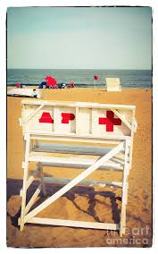 lifeguard chair asbury park photograph by colleen kammerer