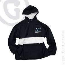 delta gamma sorority classic anorak rain jacket custom chapter