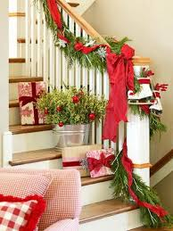 Decorating Banisters For Christmas Heralding The Holidays Decorating The Banister Roots North U0026 South