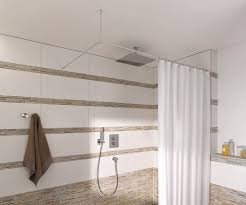 l shaped shower curtain rod with ceiling support and stainless