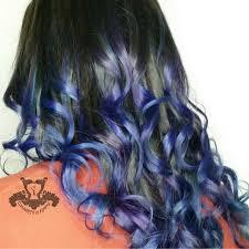 saphire black hair sapphire and amethyst swirl color melt sarasota bradenton hair salon