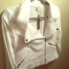 le lis le lis le lis white jacket with silver hardware from s