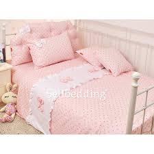 Black And White Lace Comforter Pink Romantic Princess Lace Bow Pretty Cotton Polka Dots Kids
