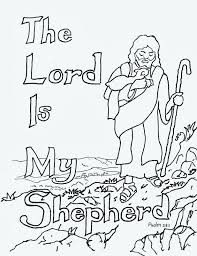 coloring pages for kids by mr adron the lord is my shepherd free